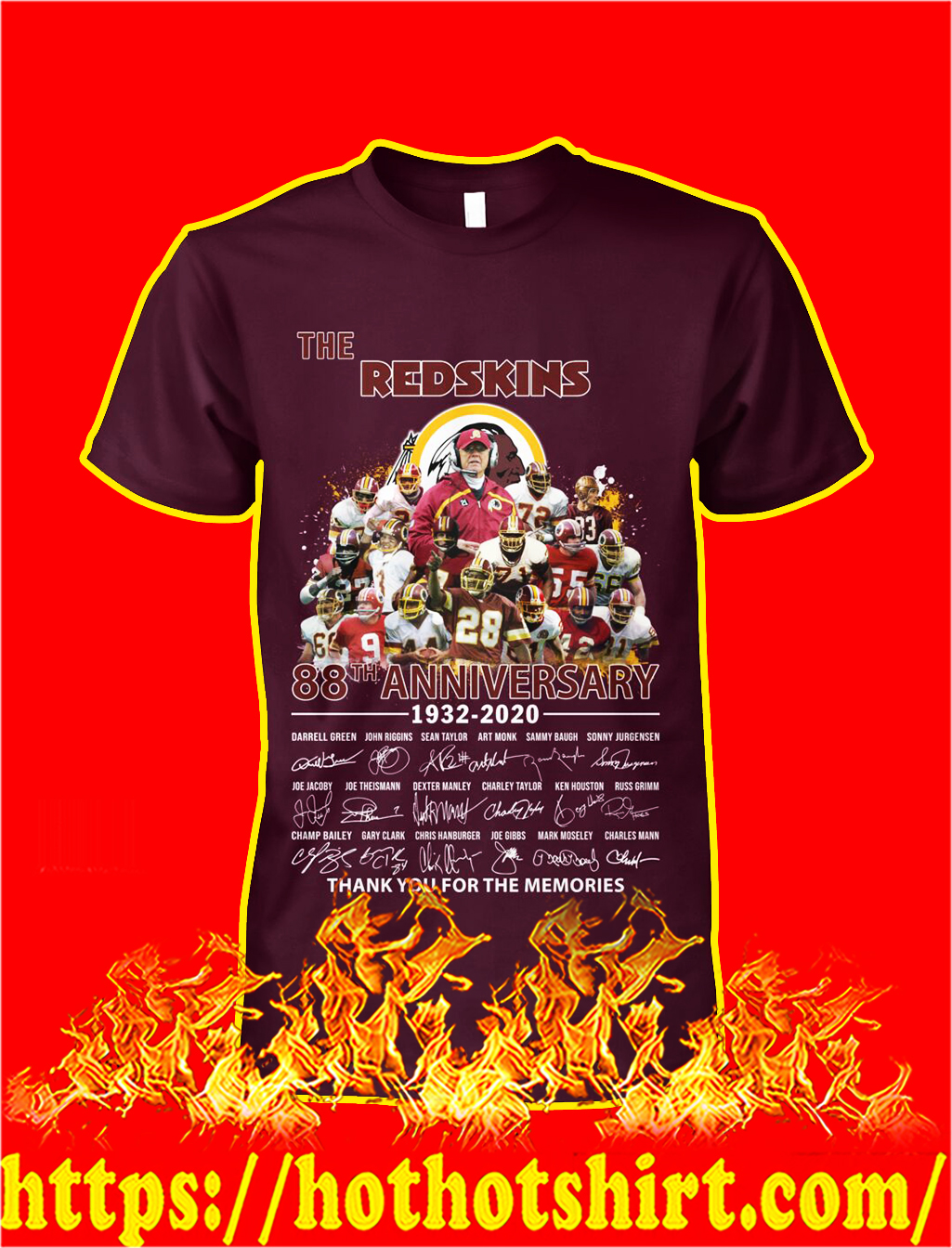The redskins 88th anniversary thank you for the memories shirt