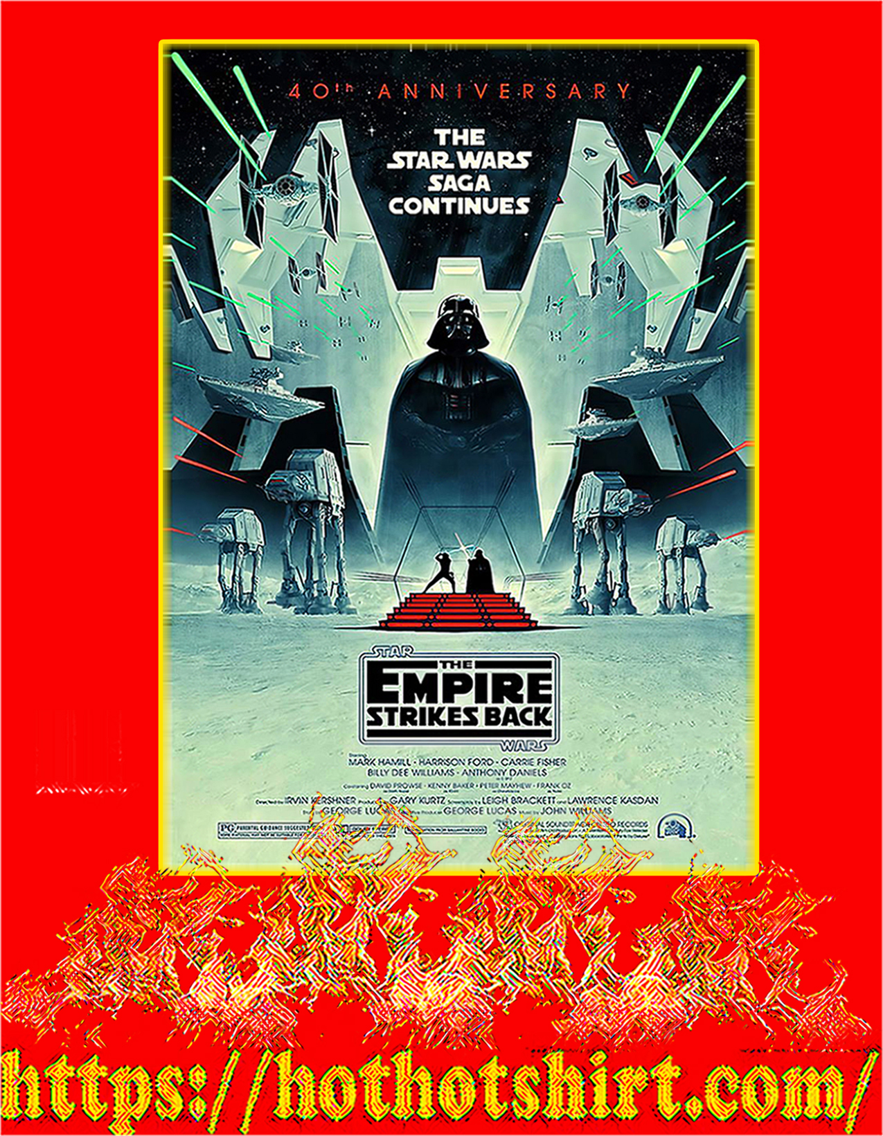 The star wars saga continues 40th anniversary poster - A3