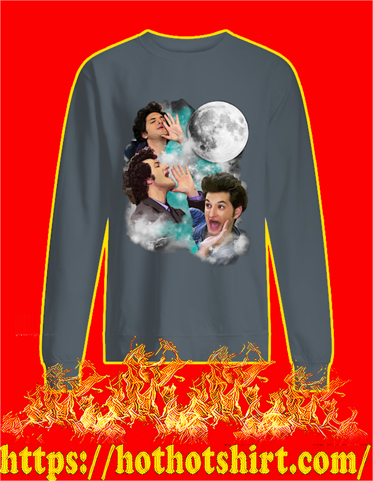 The woooorst jean ralphio three moon sweatshirt