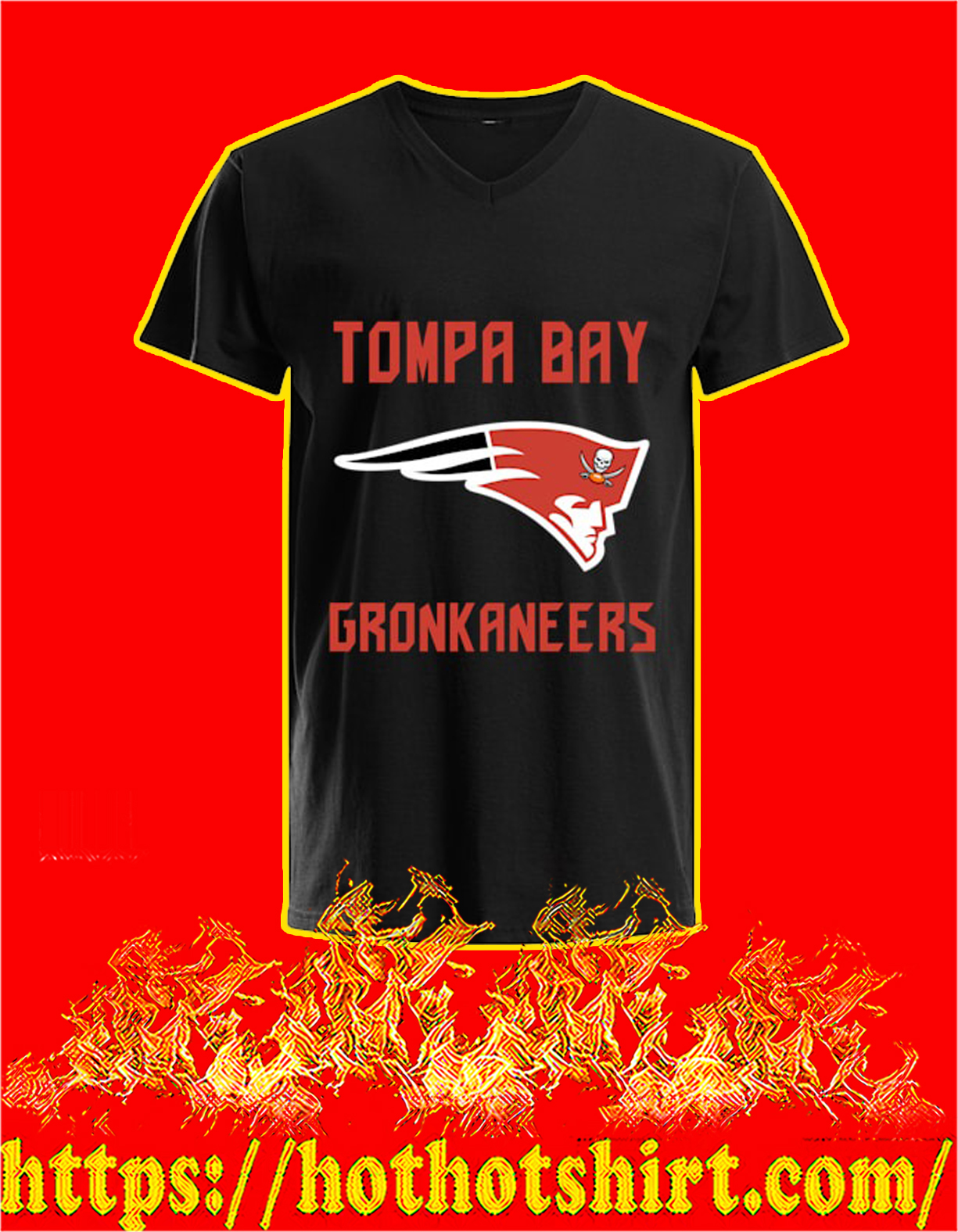 Tompa bay gronkaneers v-neck