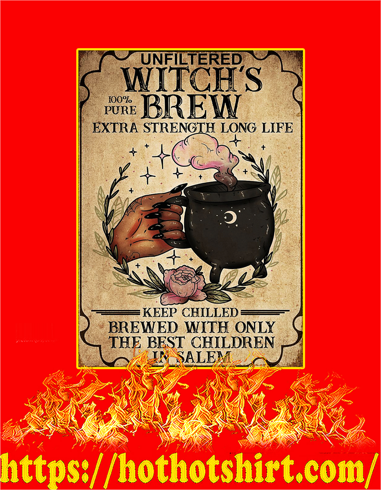 Unfiltered witch the best children poster - A4