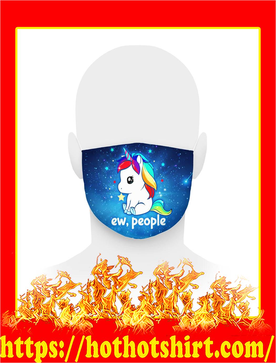 Unicorn ew people face mask- pic 1