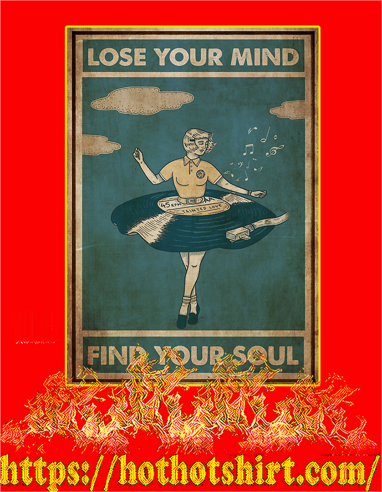Vinyl dress lose your mind find your soul poster - A3