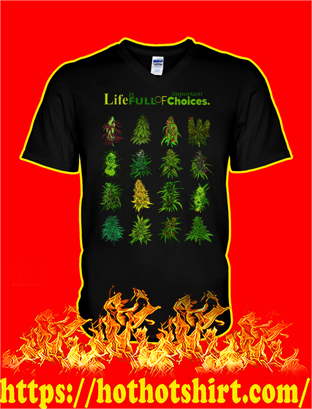 Weed Life is full of important choices v-neck