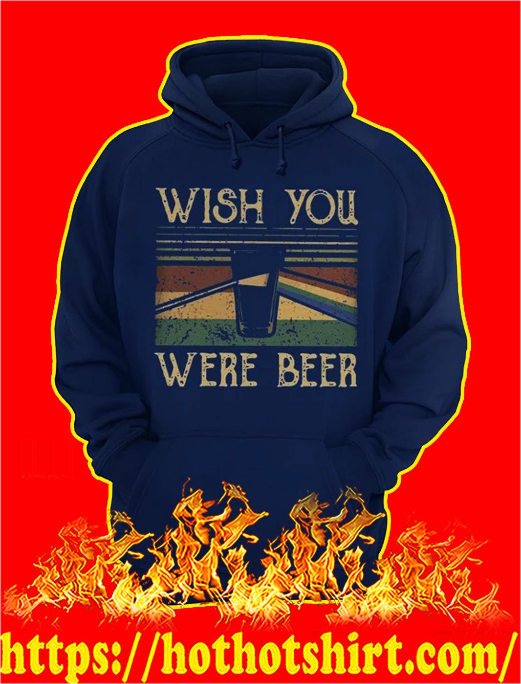 Wish you were beer pink floyd vintage hoodie