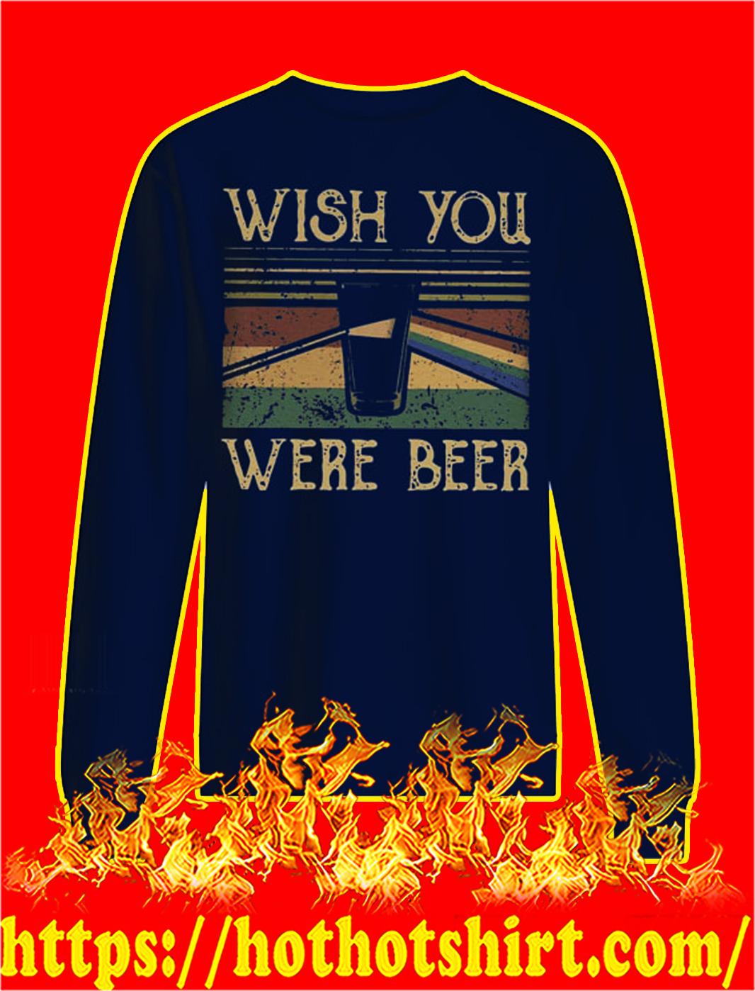 Wish you were beer pink floyd vintage sweatshirt