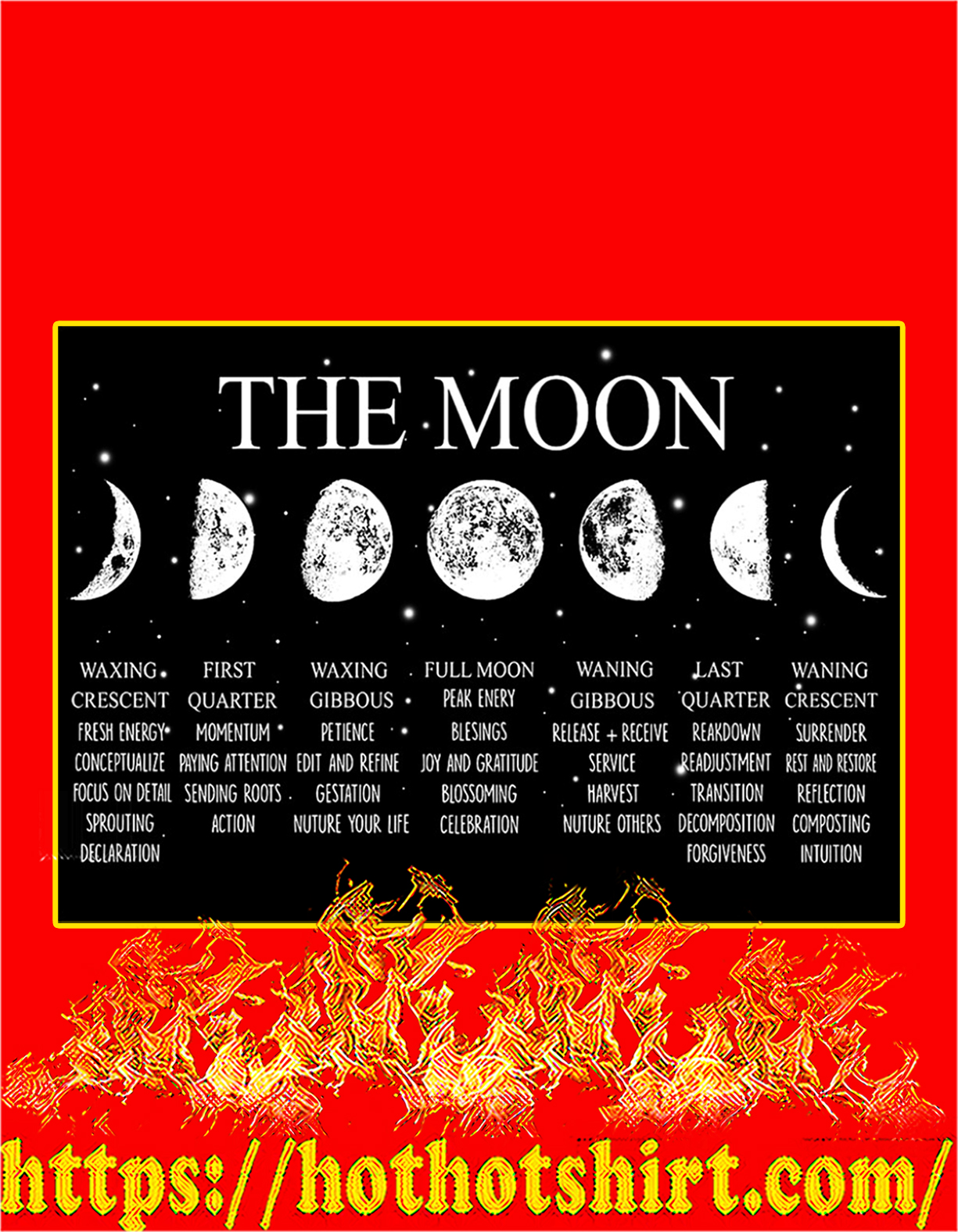 Witch the moon poster - A4