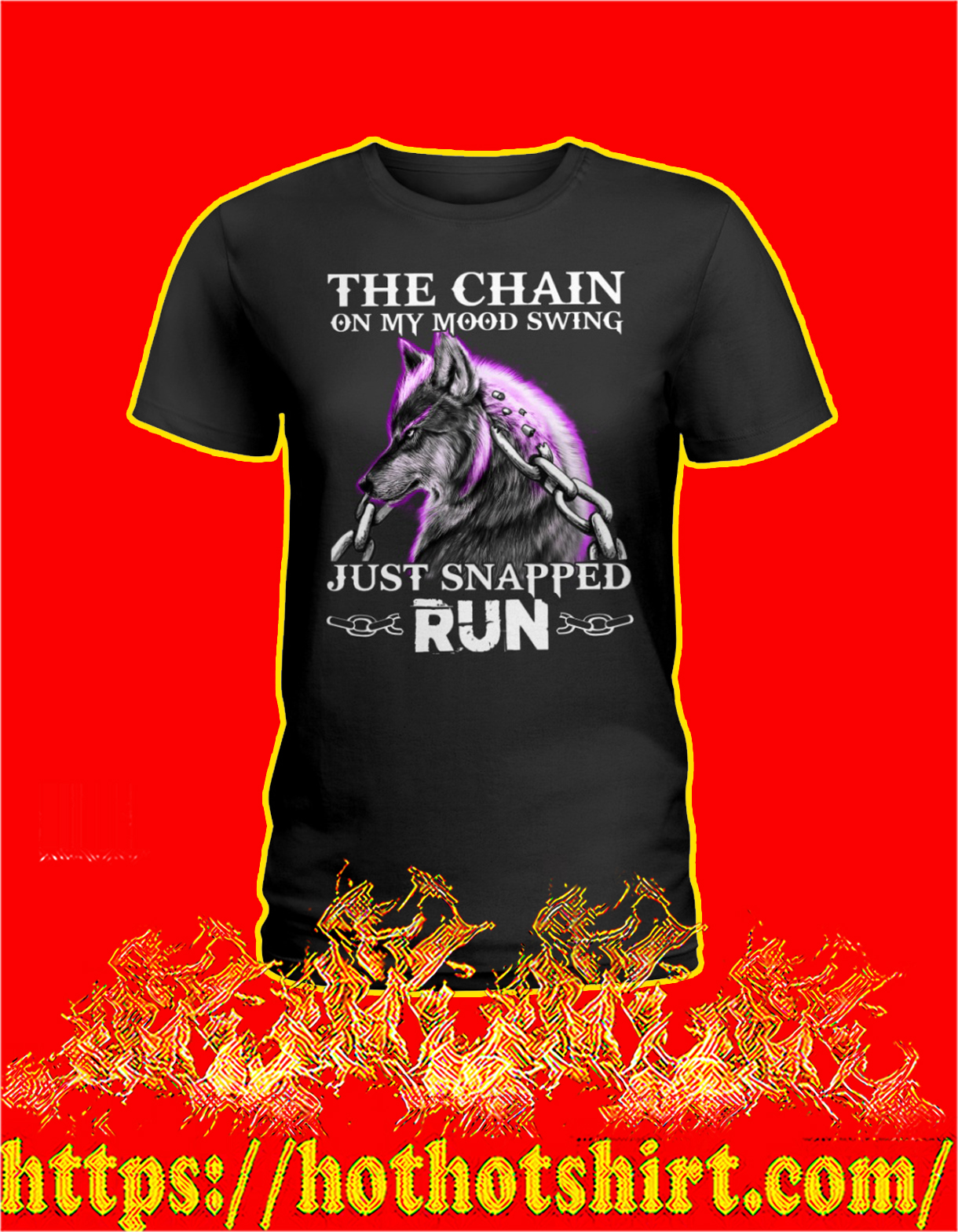 Wolf The chain on my mood swing just snapped run women shirt