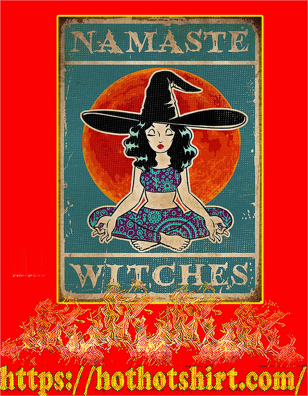 Yoga namaste witches poster - A3