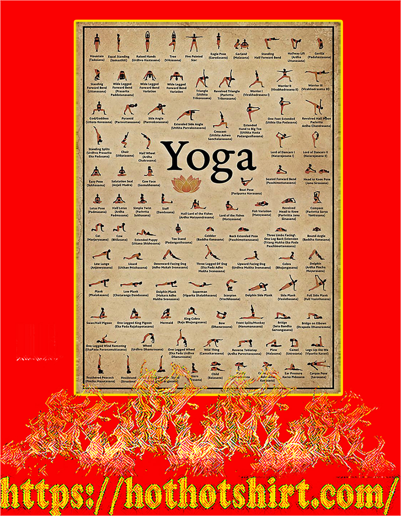 Yoga poses poster - A2
