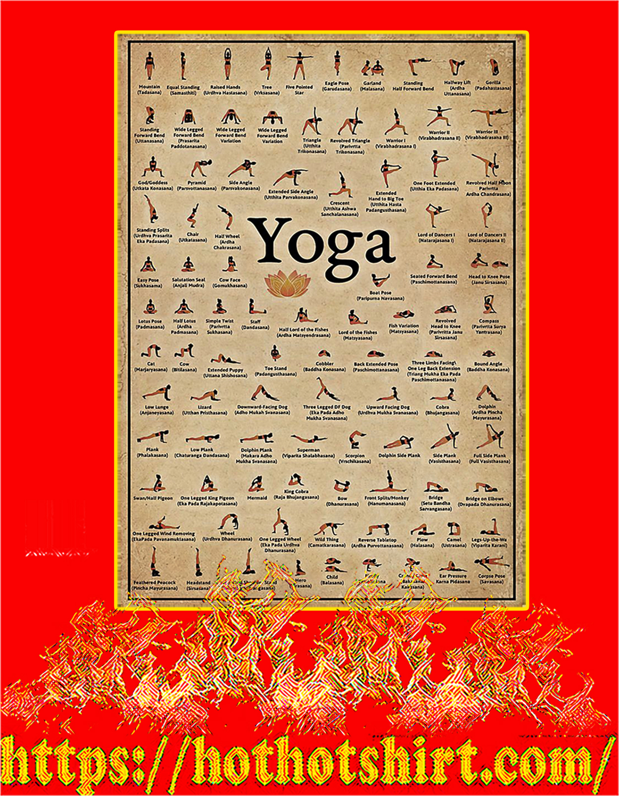 Yoga poses poster - A3