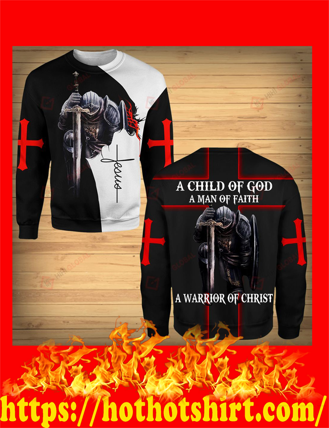 A child of god a man of faith a warrior of chrisy 3d long sleeve tee