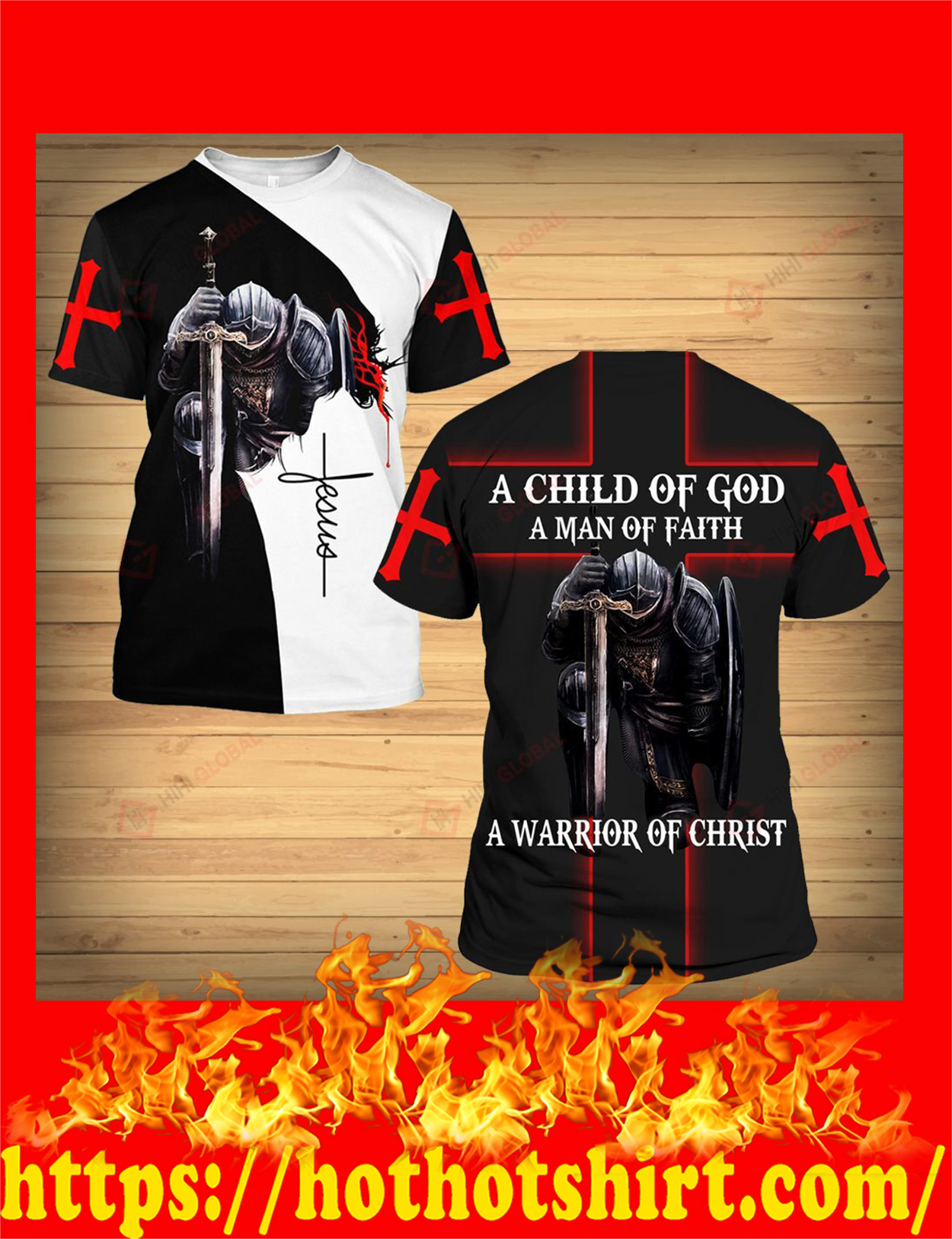 A child of god a man of faith a warrior of chrisy 3d t-shirt