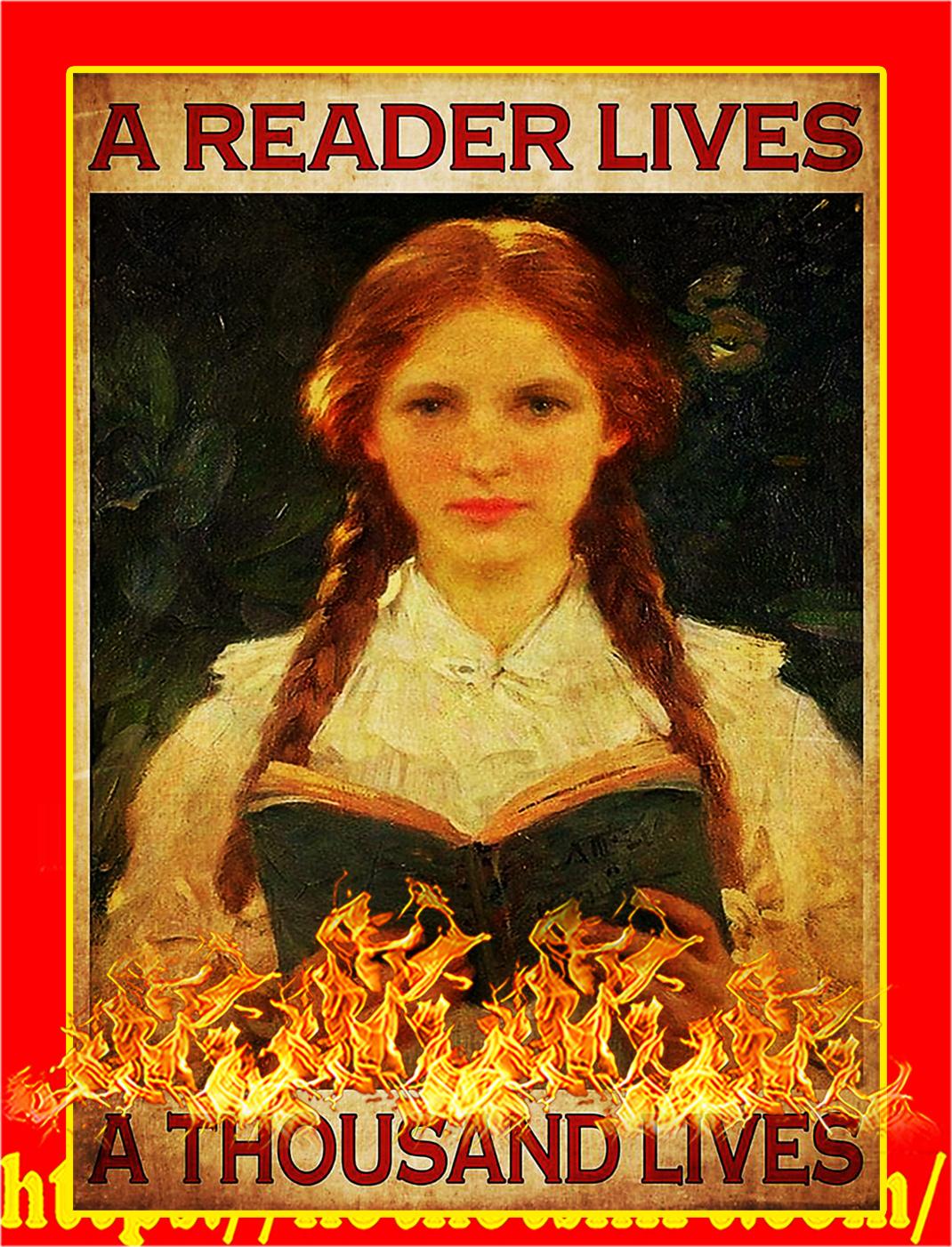 A reader lives a thousand lives poster - A2