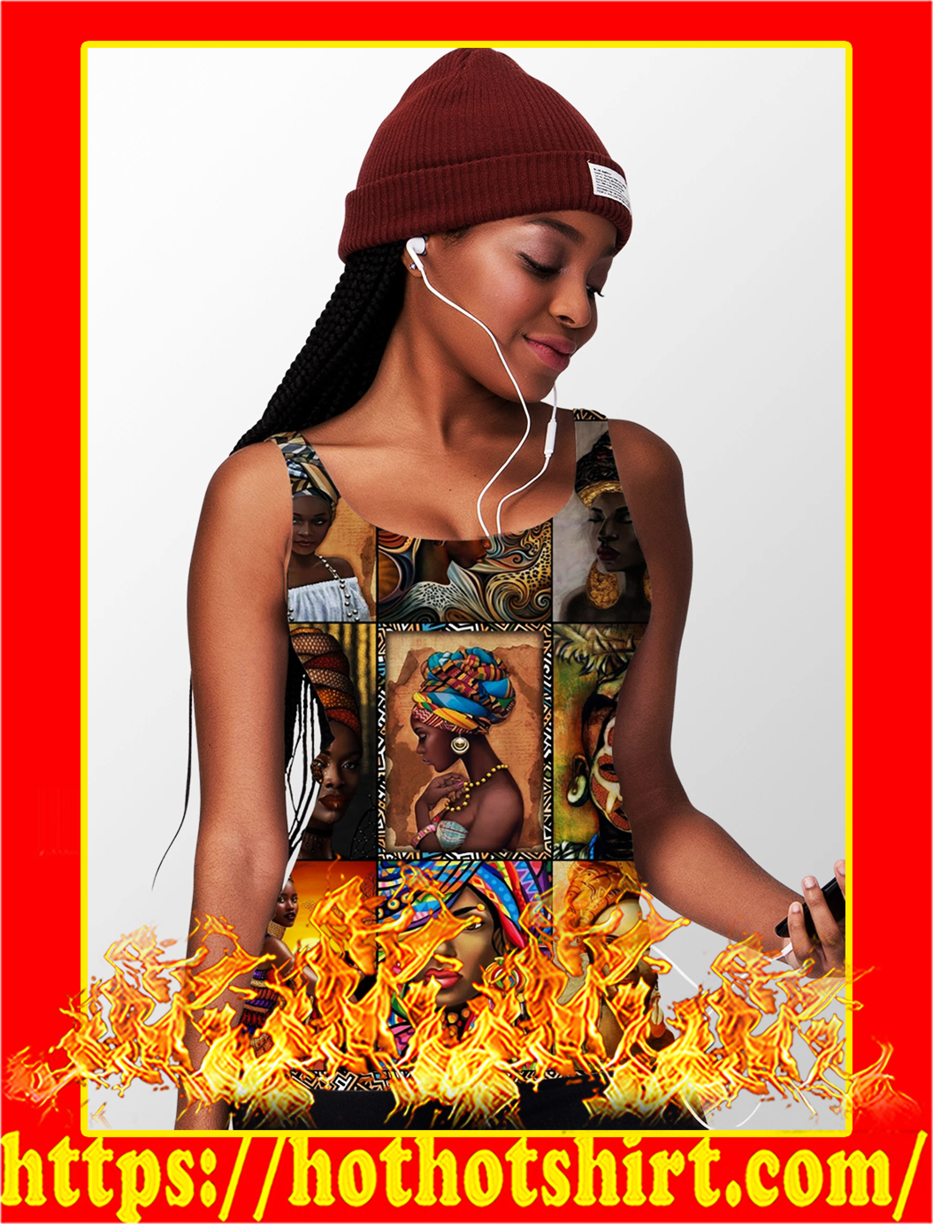 African culture hollow tank top