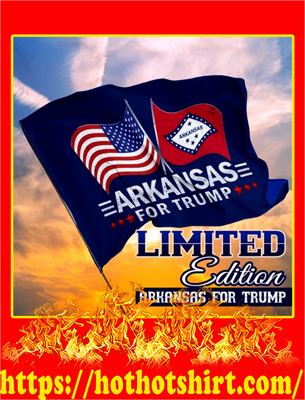Arkansas for trump flag - pic 1