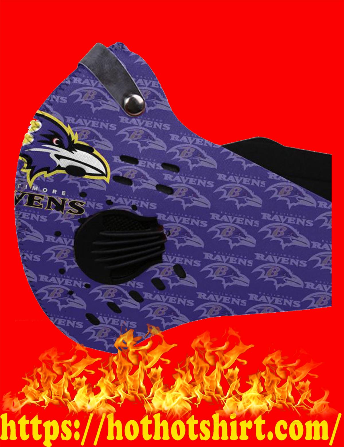 Baltimore ravens POD face mask - detail