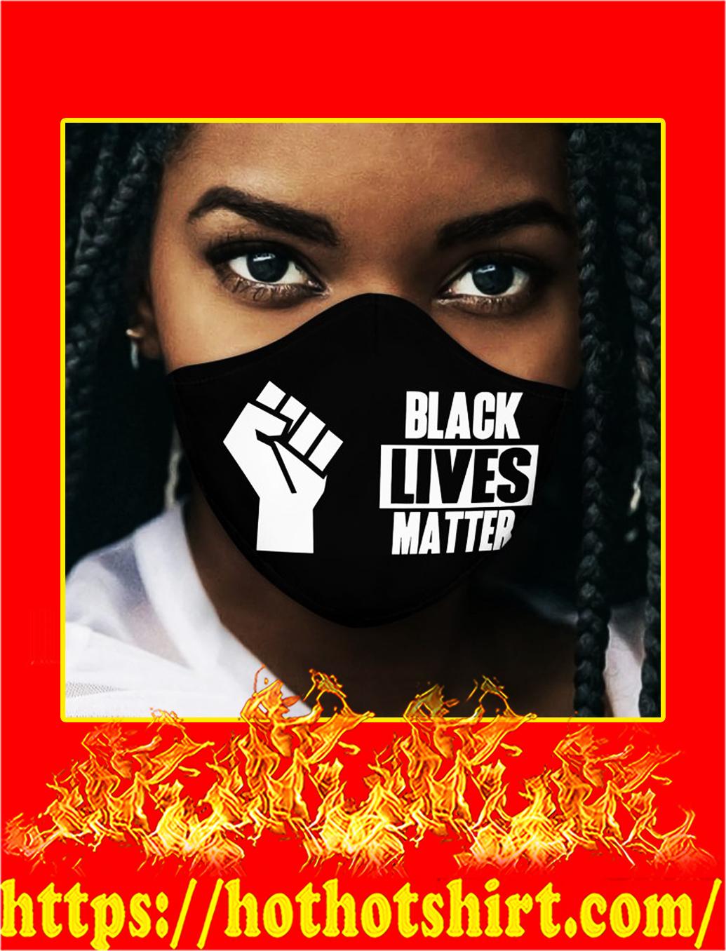 Black lives matter 3d face mask- pic 1