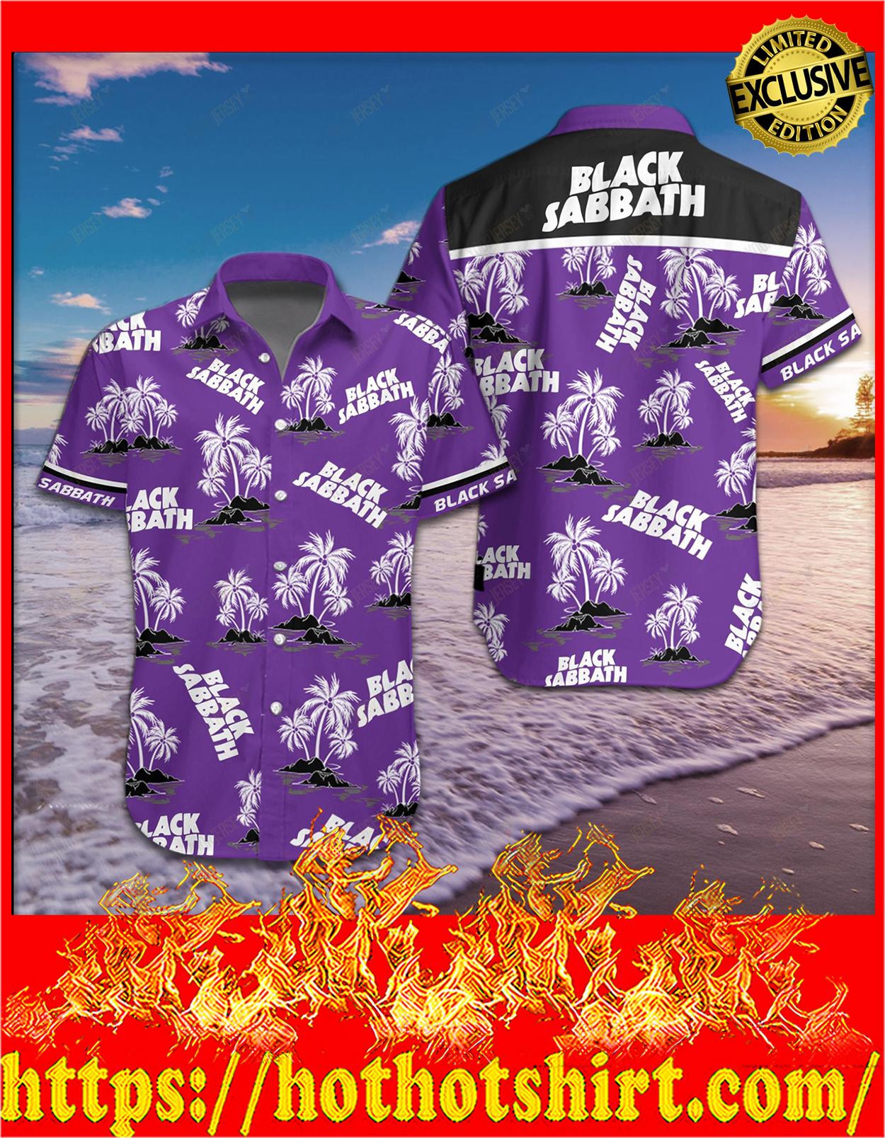 Black sabbath hawaiian shirt - detail