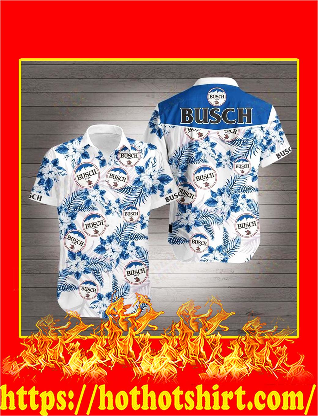 Busch Beer Hawaiian 3D Shirt - S