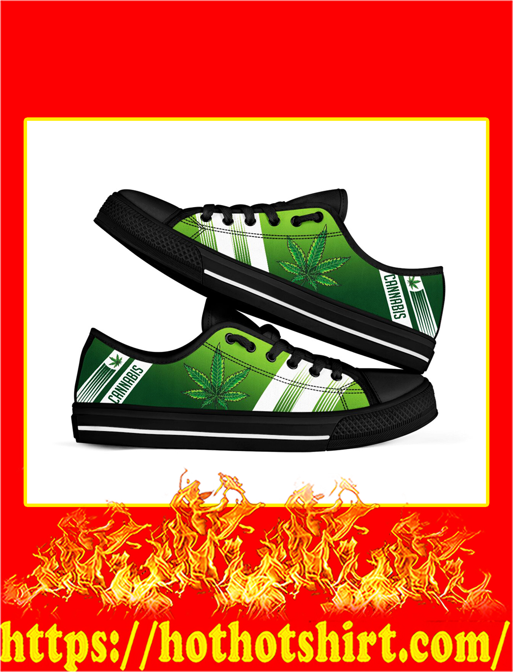 Cannabis weed low top shoes- pic 3
