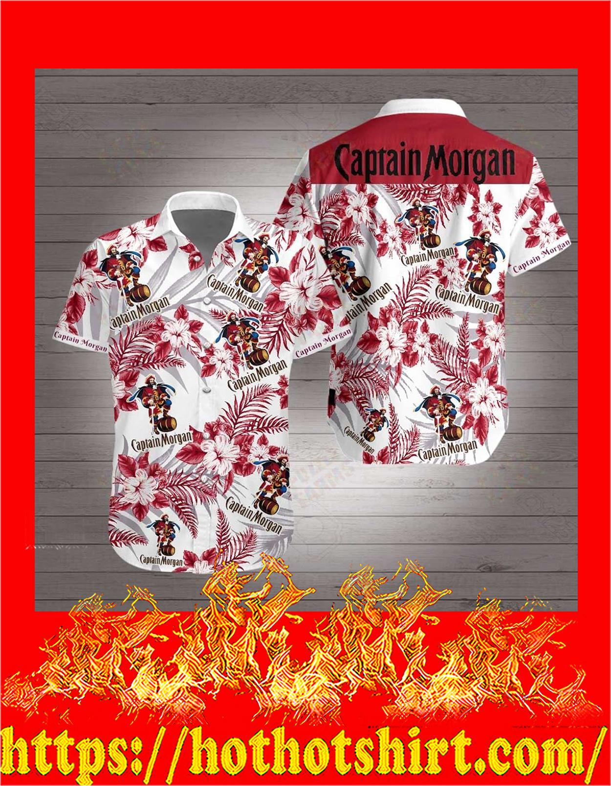Captain morgan hawaiian shirt - detail
