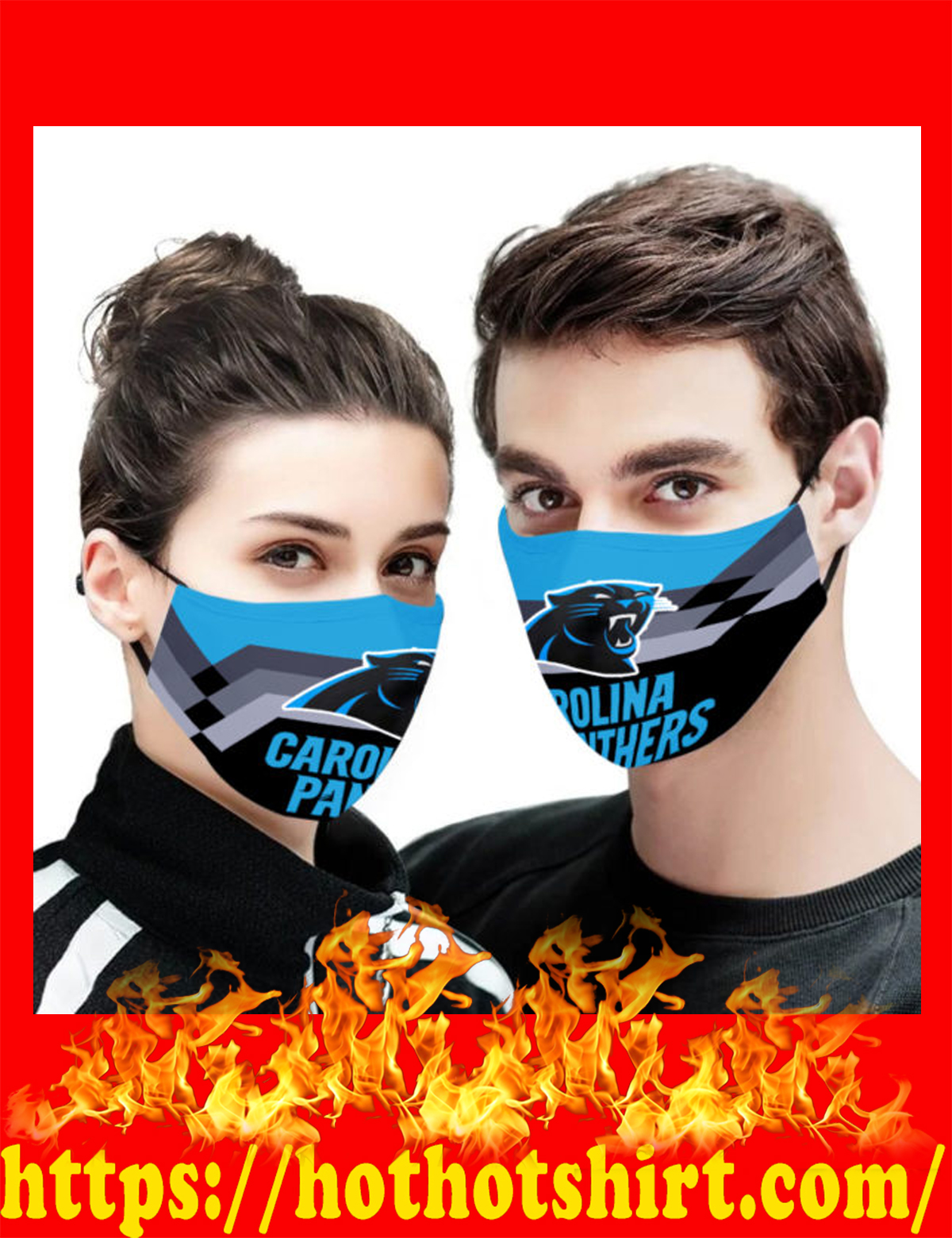 Carolina panthers face mask - detail