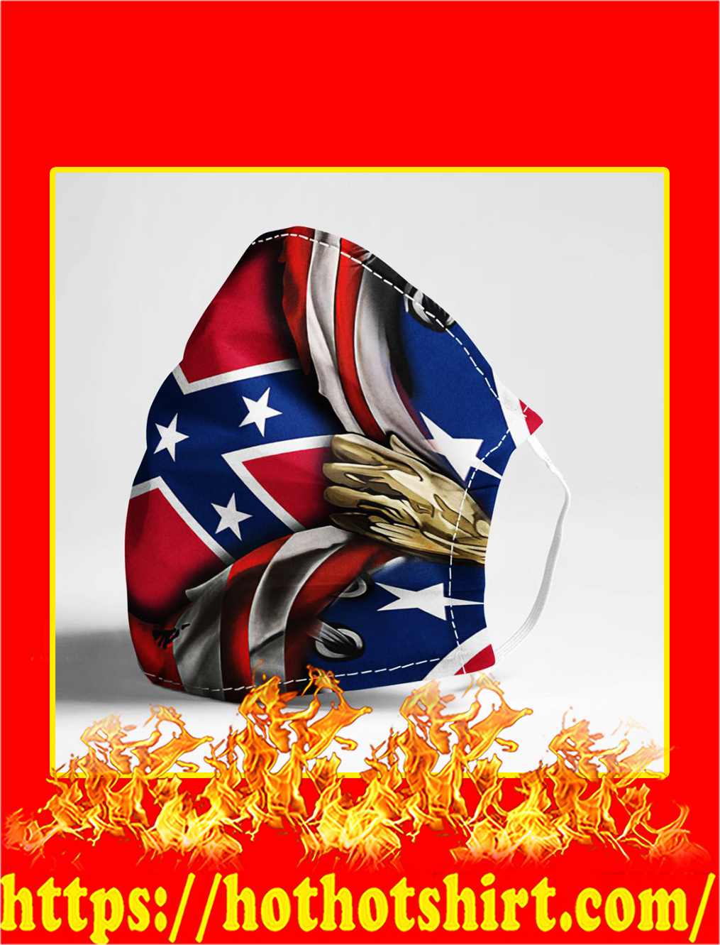 Confederate flag inside me face mask- pic 1