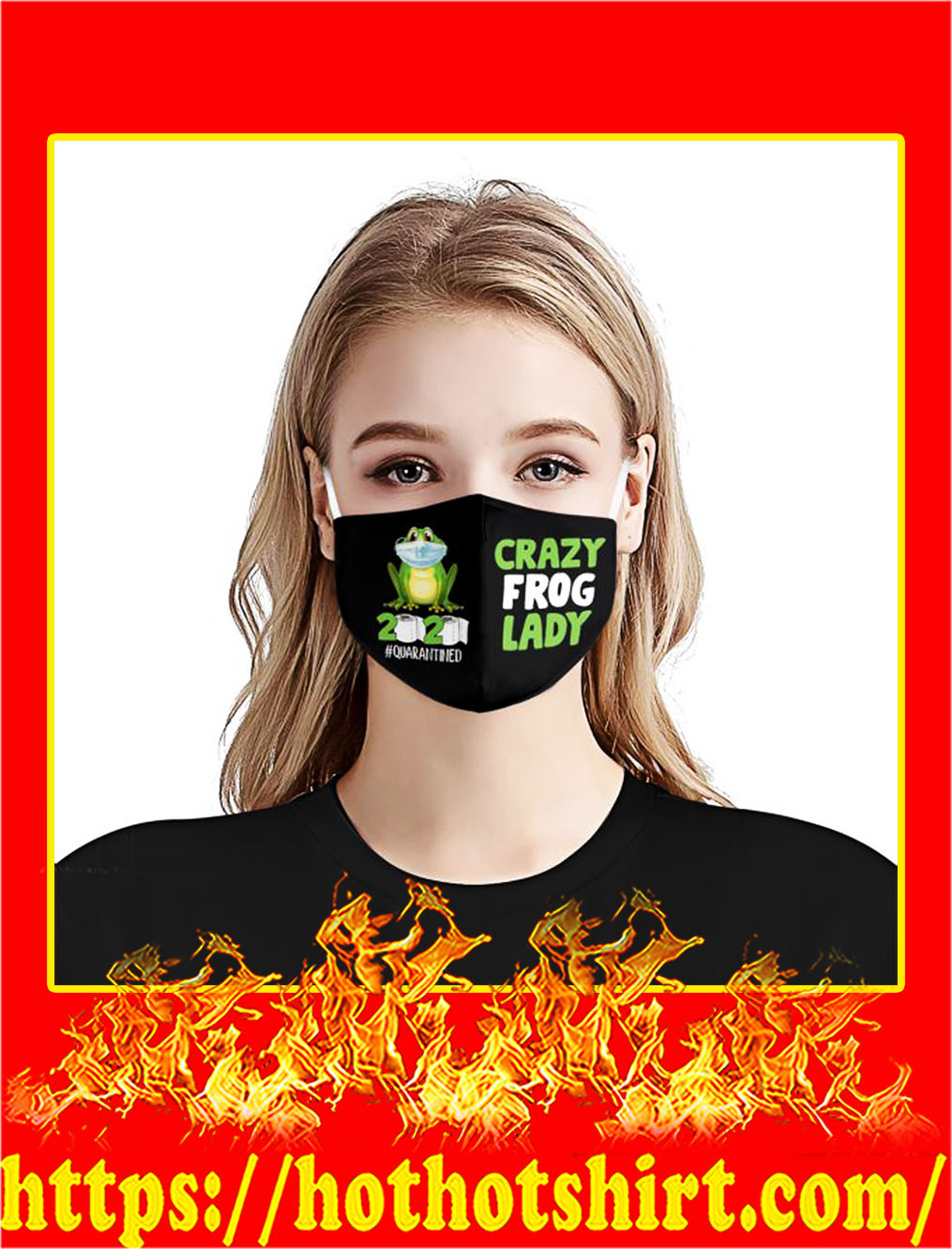 Crazy frog lady 2020 quarantined face mask- pic 1