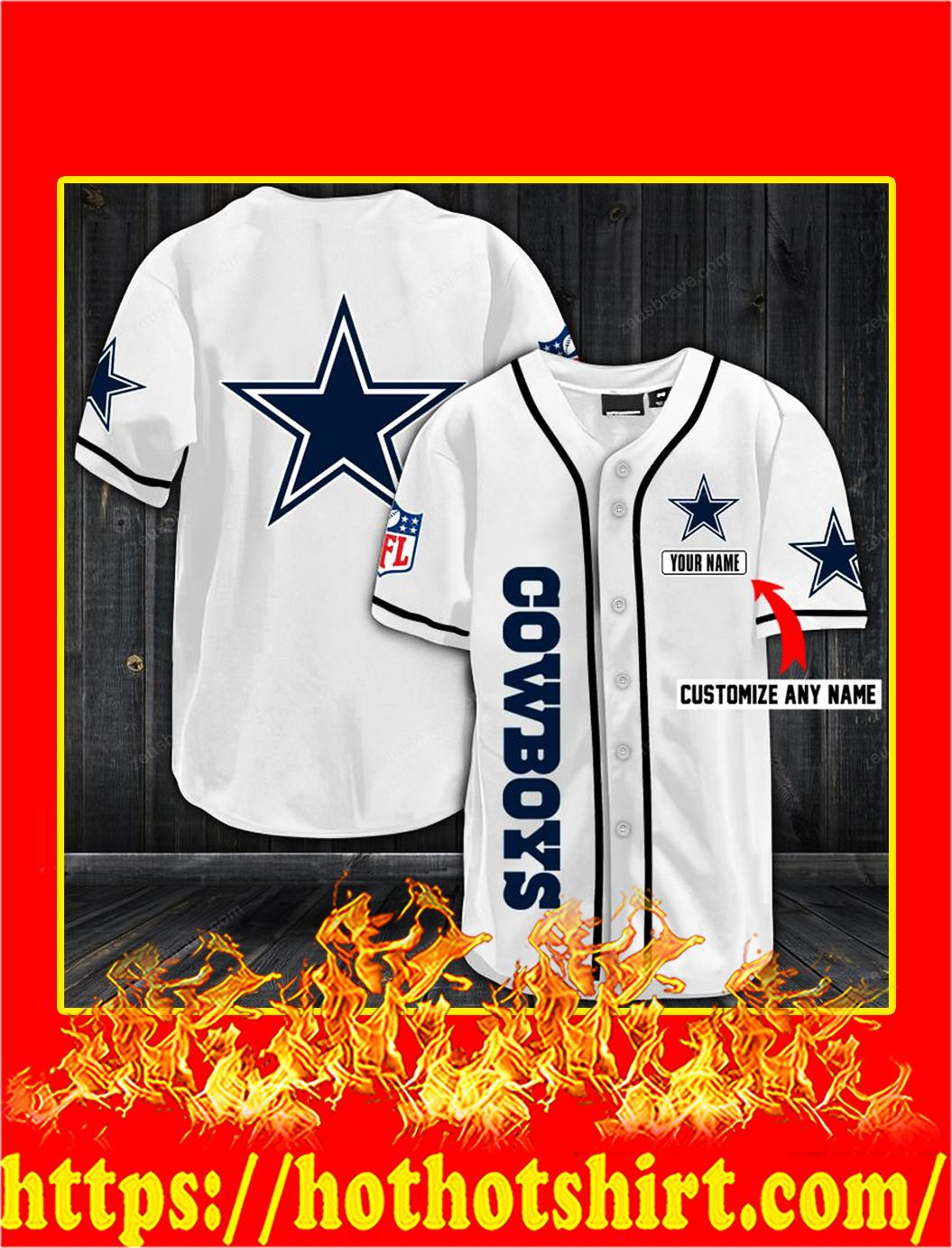 Customize name dallas cowboys hawaiian shirt- white