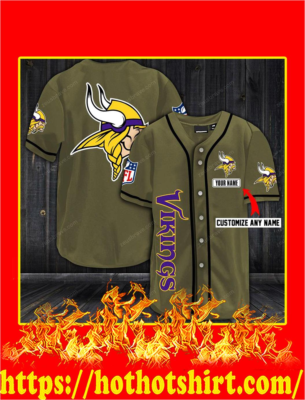 Customize name minnesota vikings hawaiian shirt- old gold
