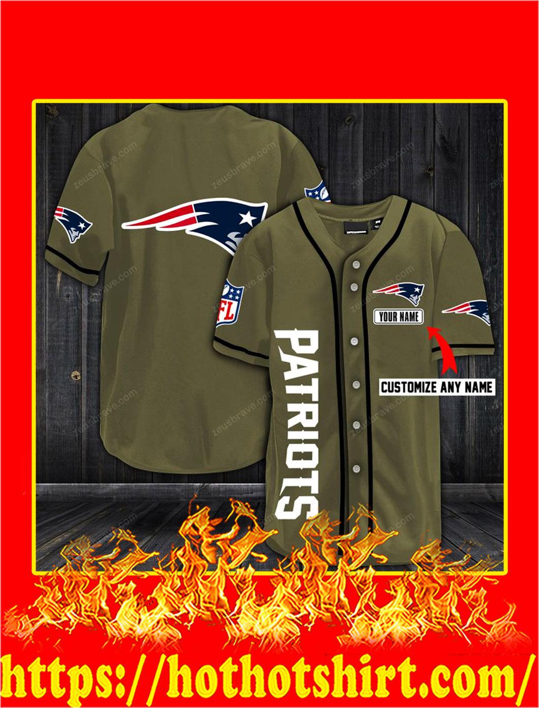 Customize name new england patriots hawaiian shirt- old gold