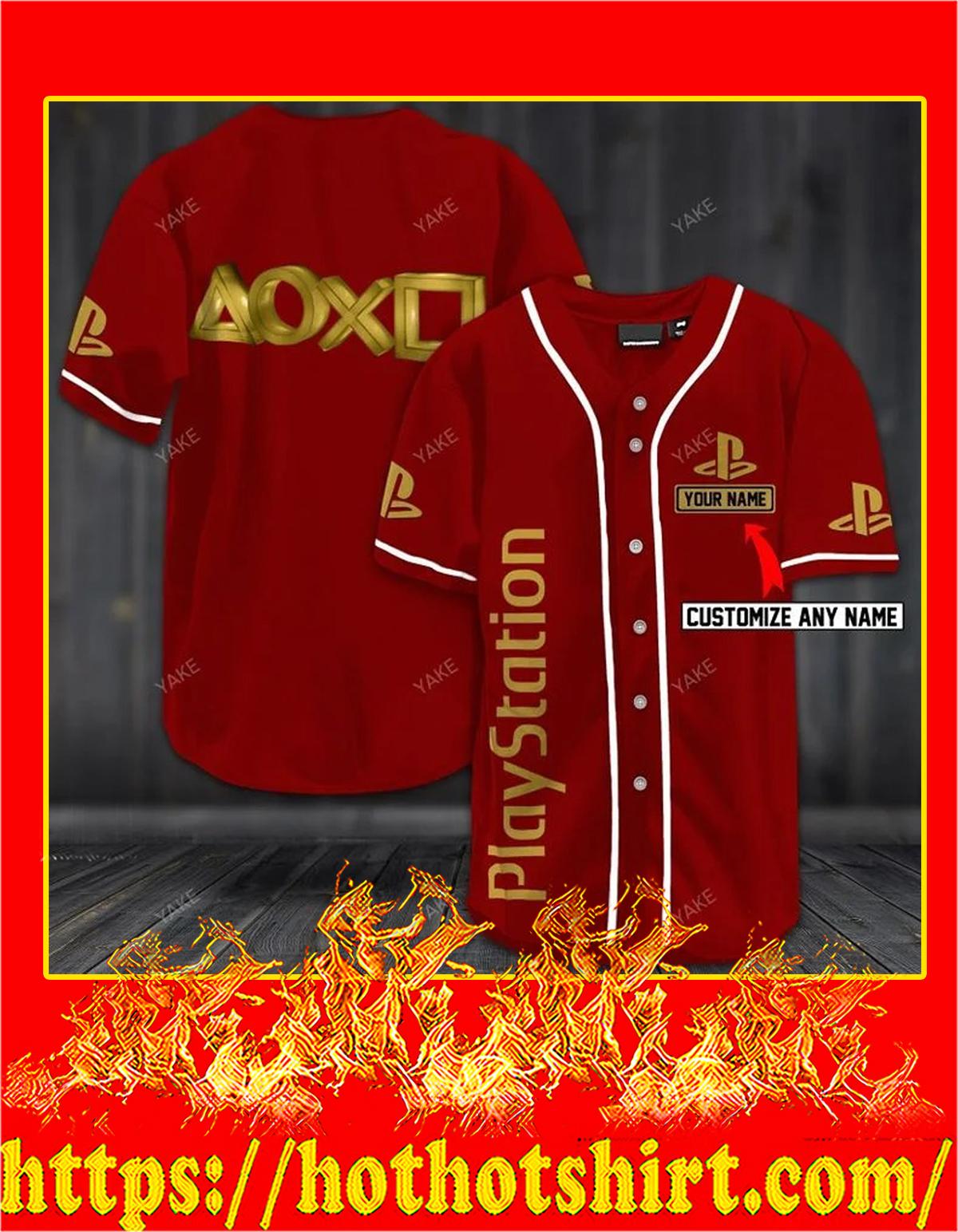 Customize name playstation hawaiian shirt - red