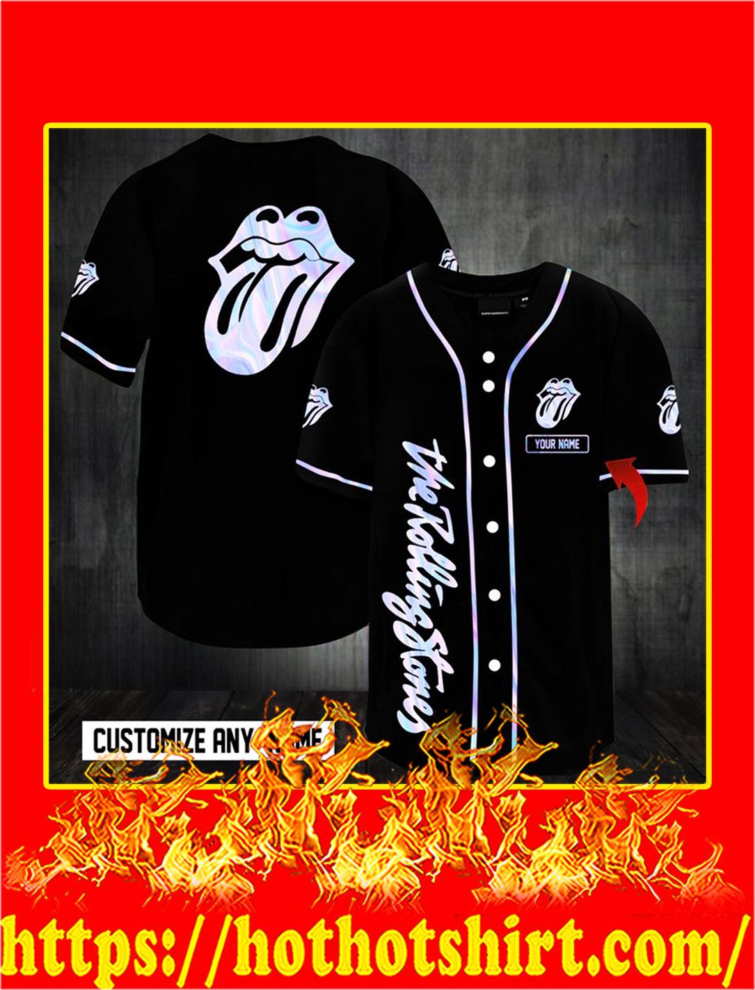 Customize name the rolling stones hawaiian shirt- L