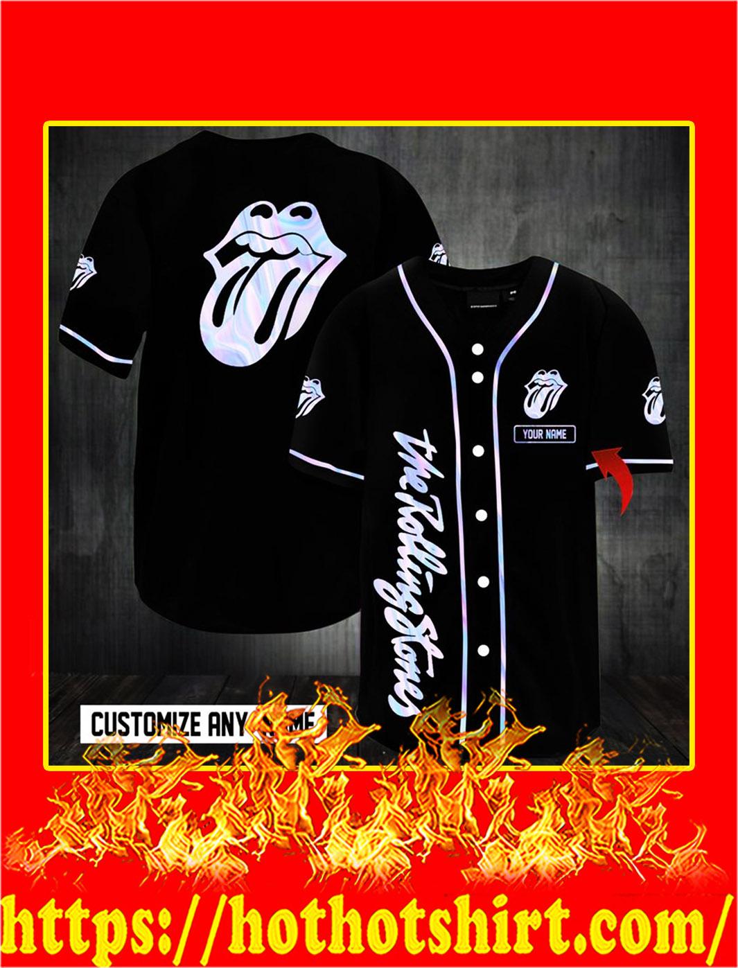 Customize name the rolling stones hawaiian shirt- S