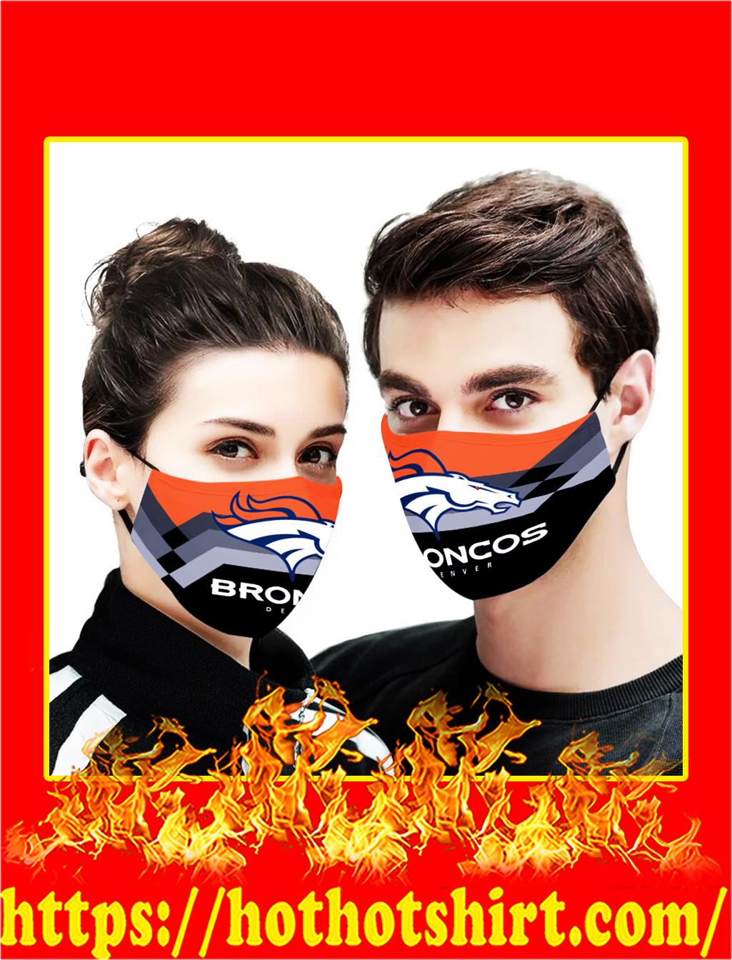 Denver broncos face mask