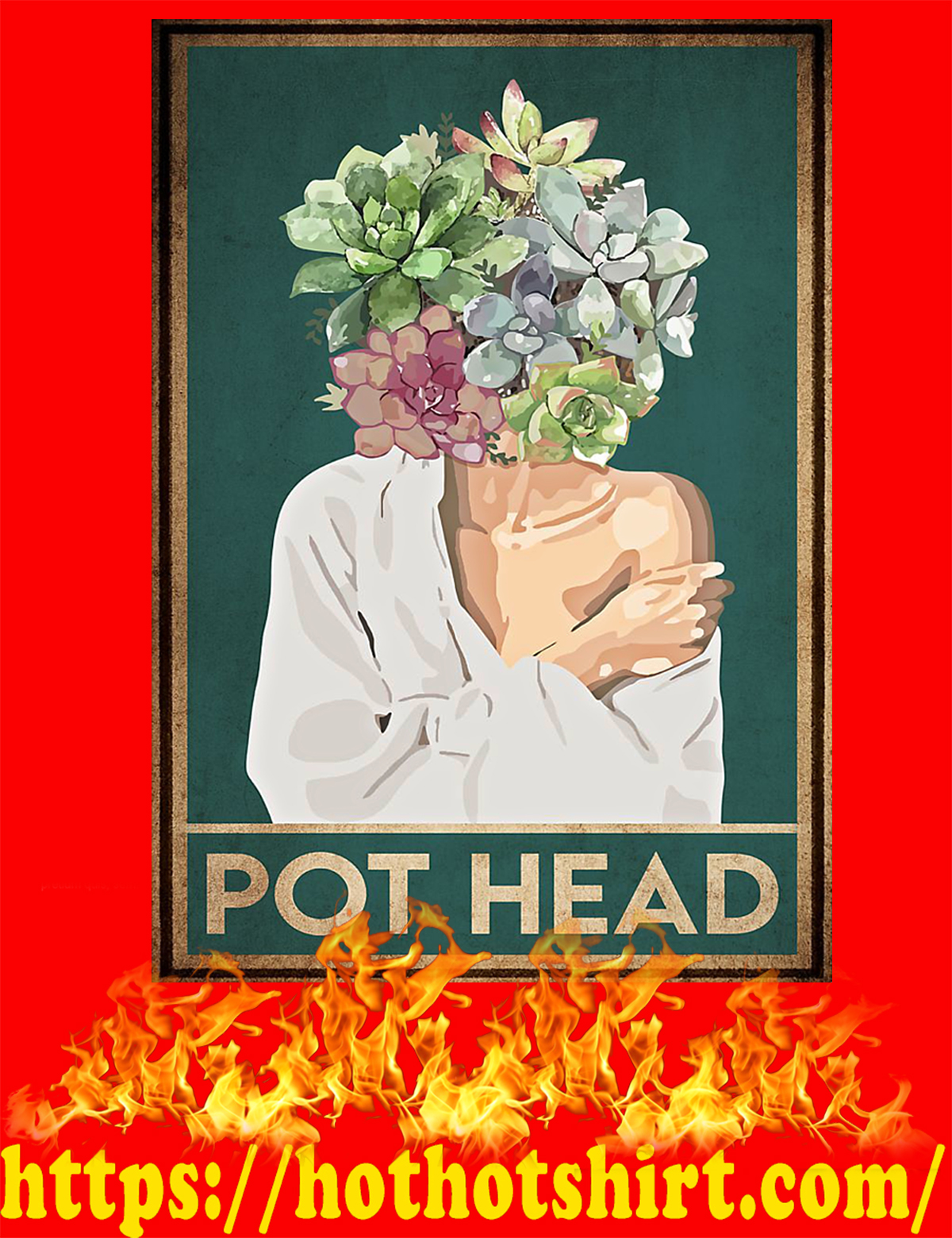 Garden pot head poster - A4