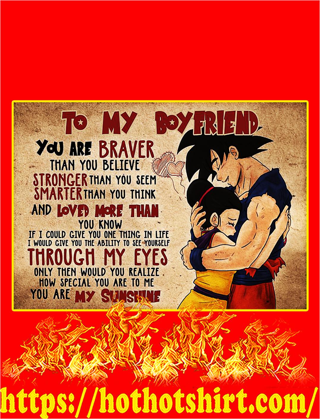 Goku and chichi to my boyfriend poster - A1