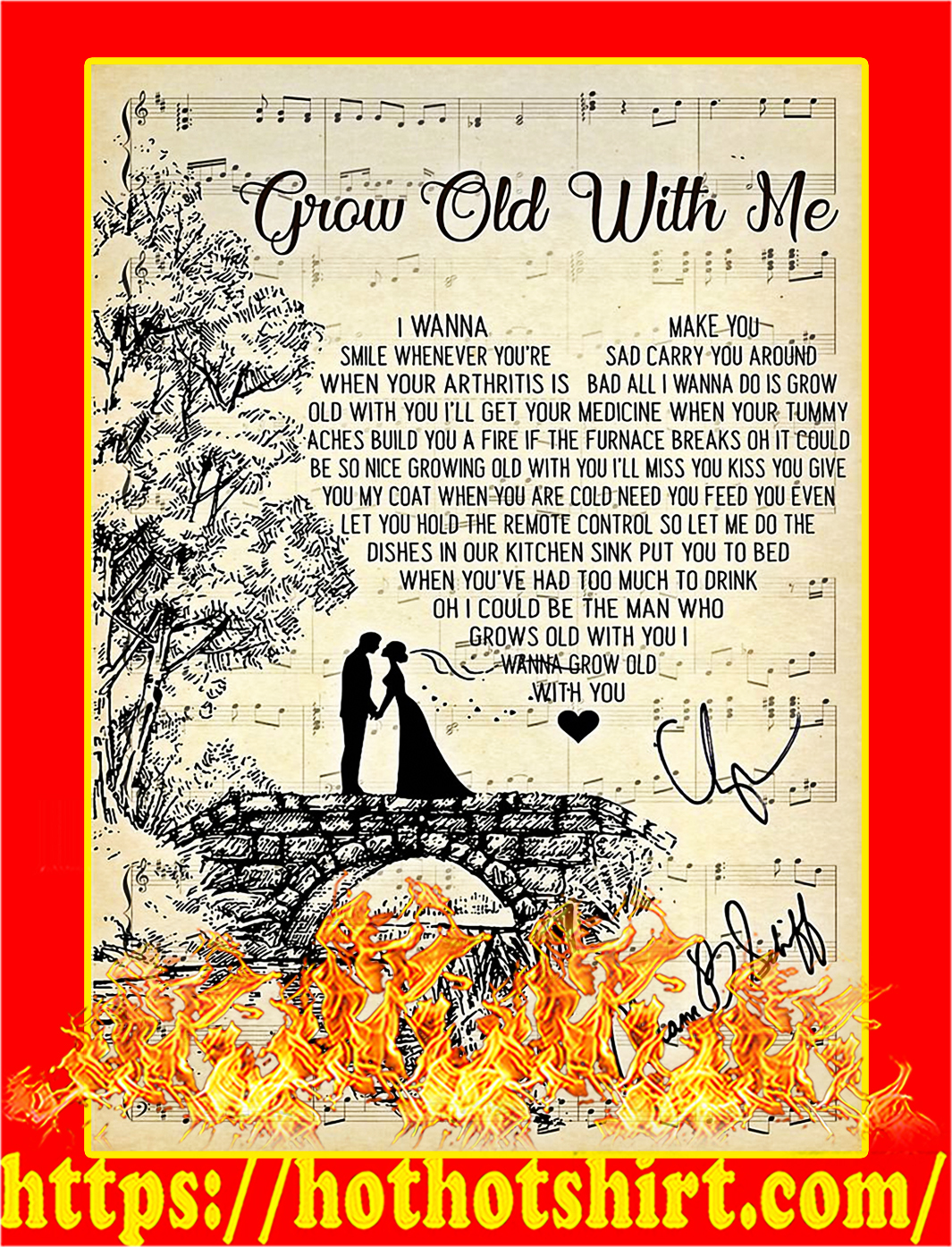 Grow old with me Adam Sandler signature poster-style 2