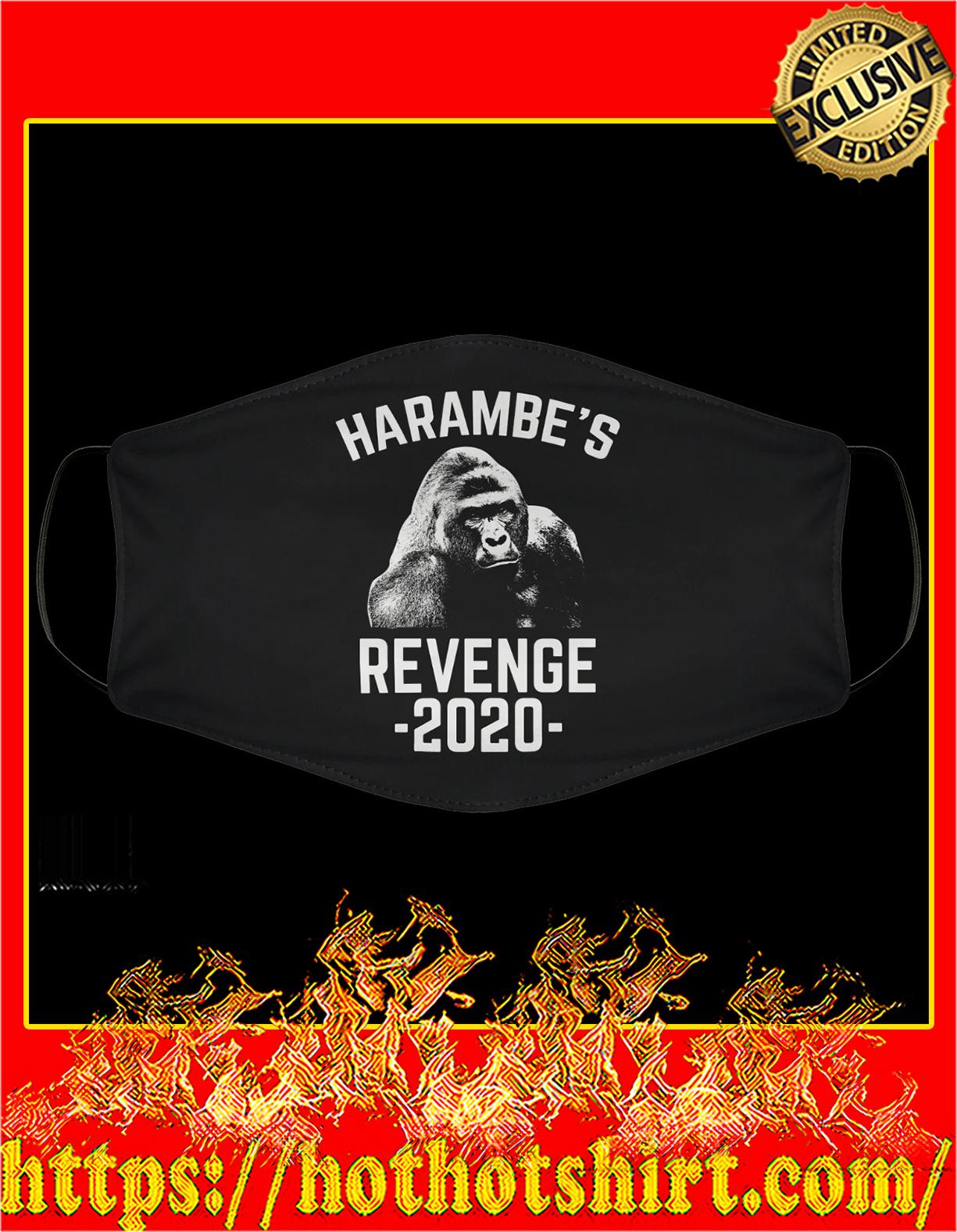 Harambe's revenge 2020 face mask - detail