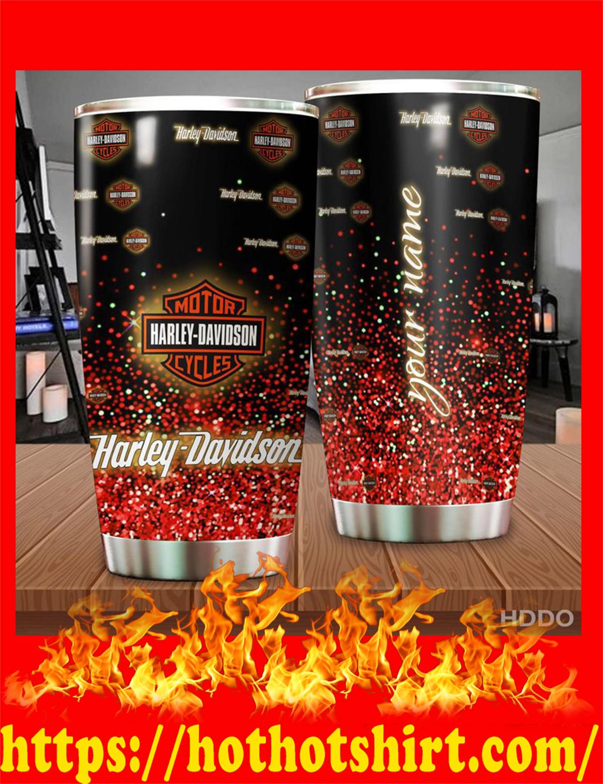Harley davidson custom name personalize tumbler - red