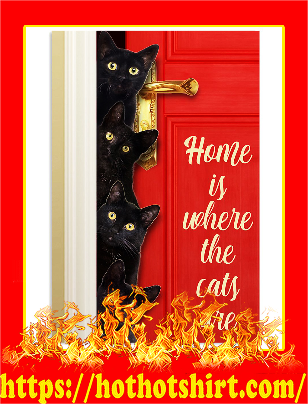 Home is where the cats are poster - A3