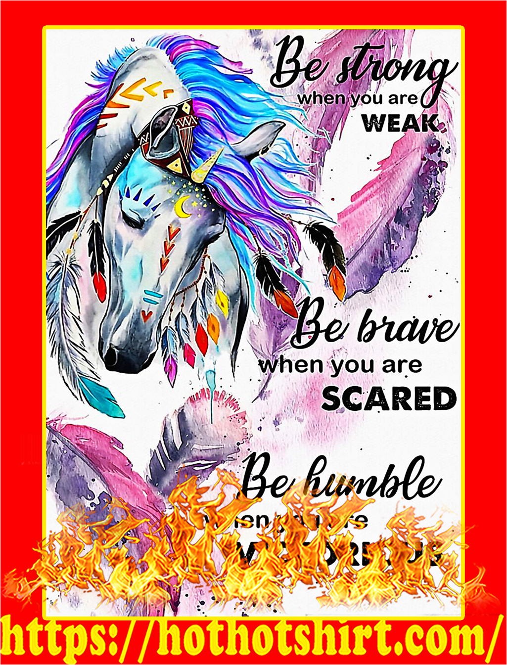 Horse girl be strong when you are weak poster - A2