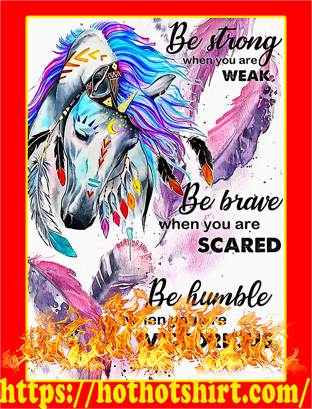 Horse girl be strong when you are weak poster- A3