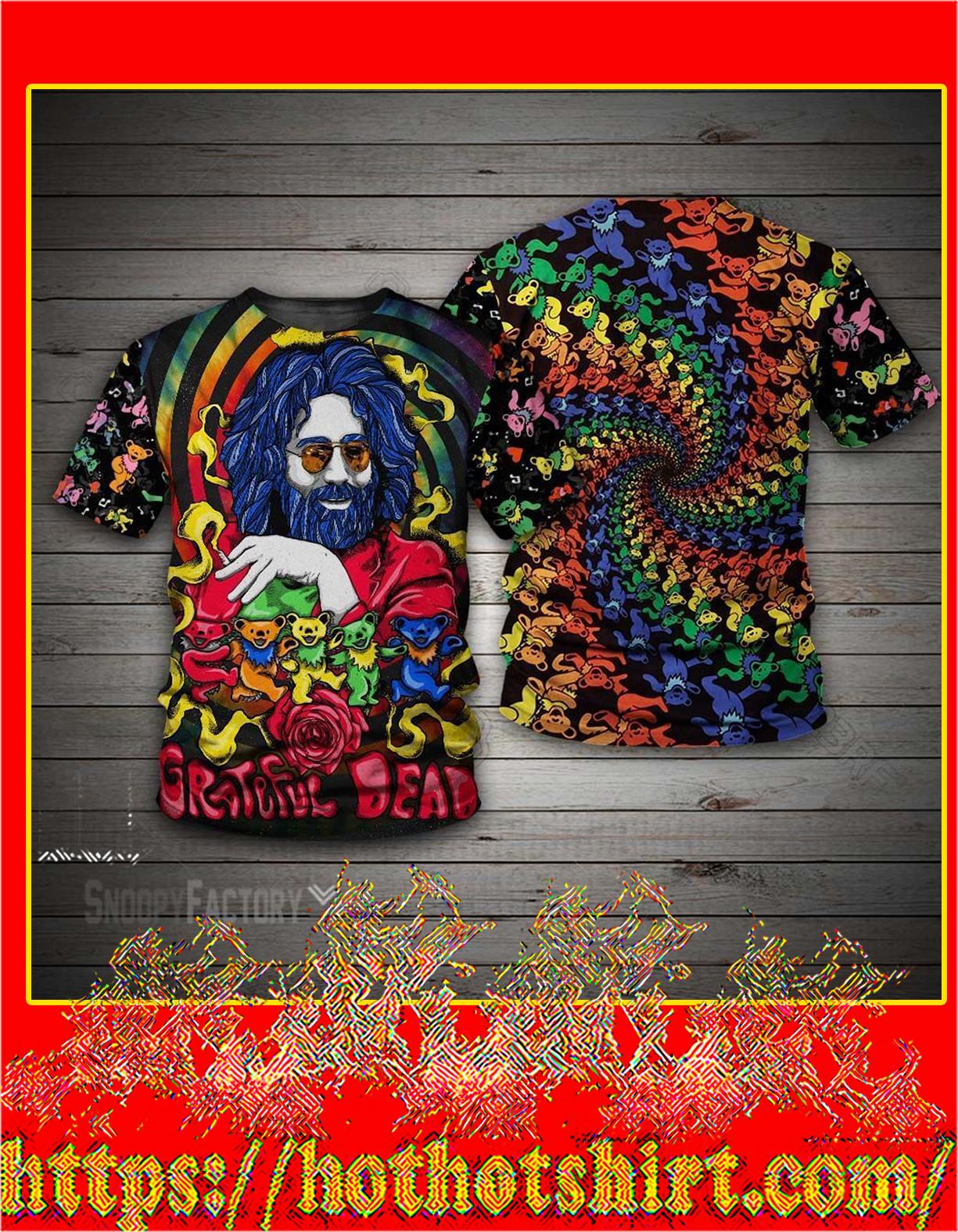 Jerry Garcia grateful dead bears 3d T shirt
