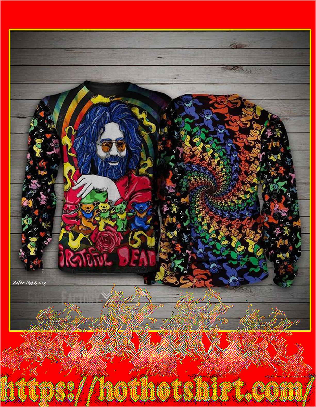 Jerry Garcia grateful dead bears 3d sweatshirt