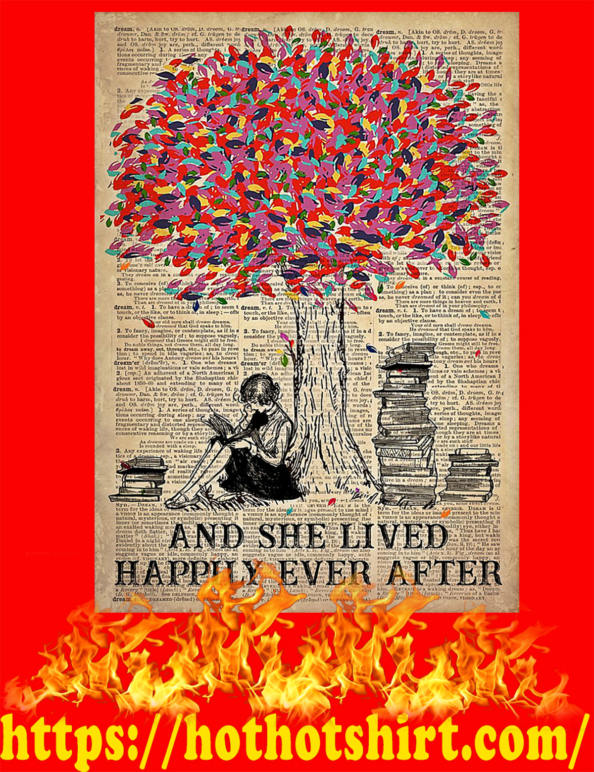 Just a girl who loves books poster - A3