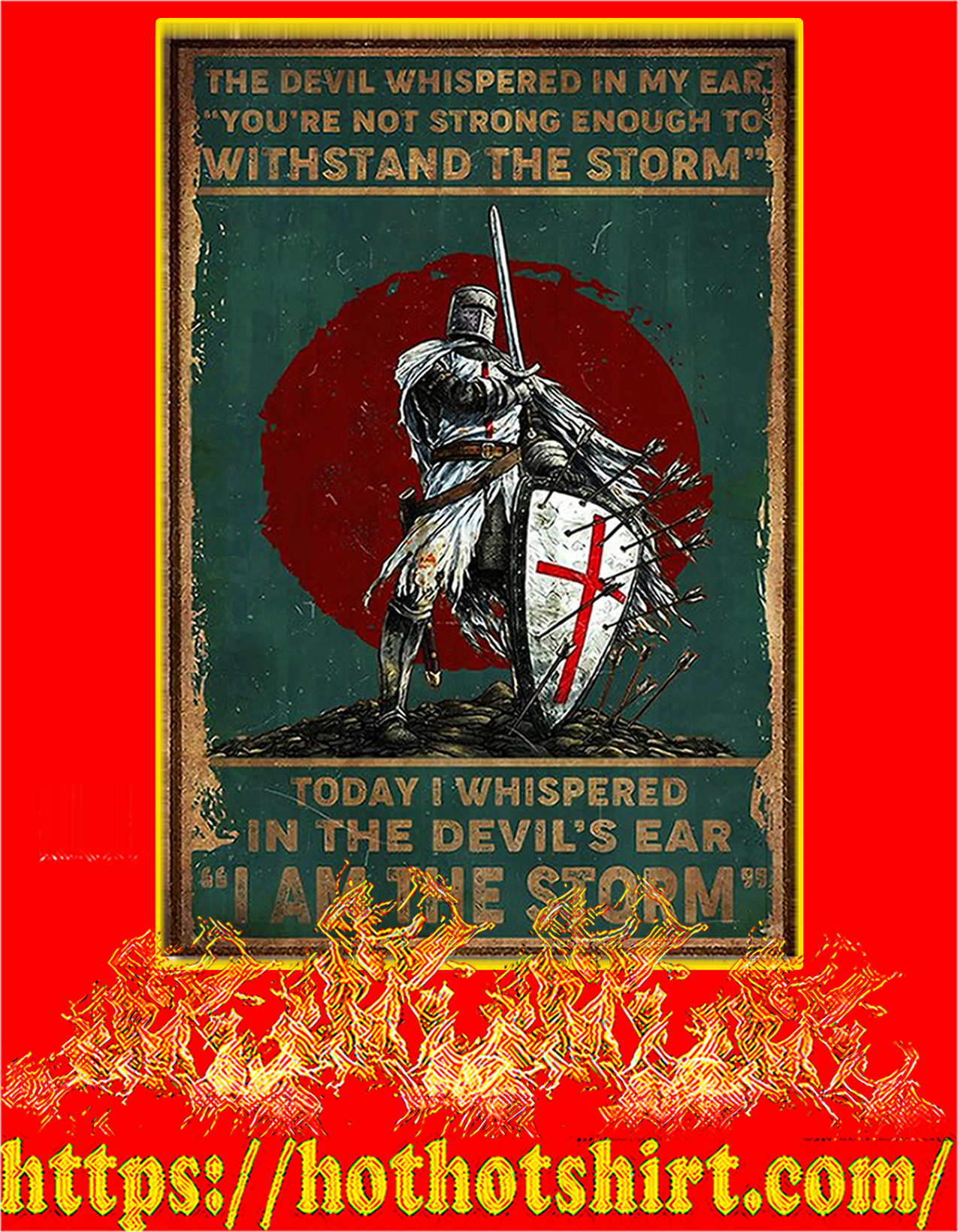 Knight templar the devil whispered in my ear poster - A2