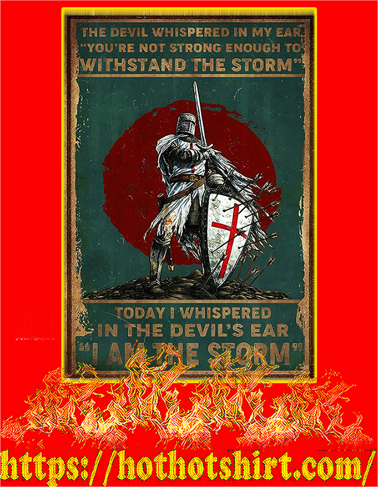 Knight templar the devil whispered in my ear poster - A3