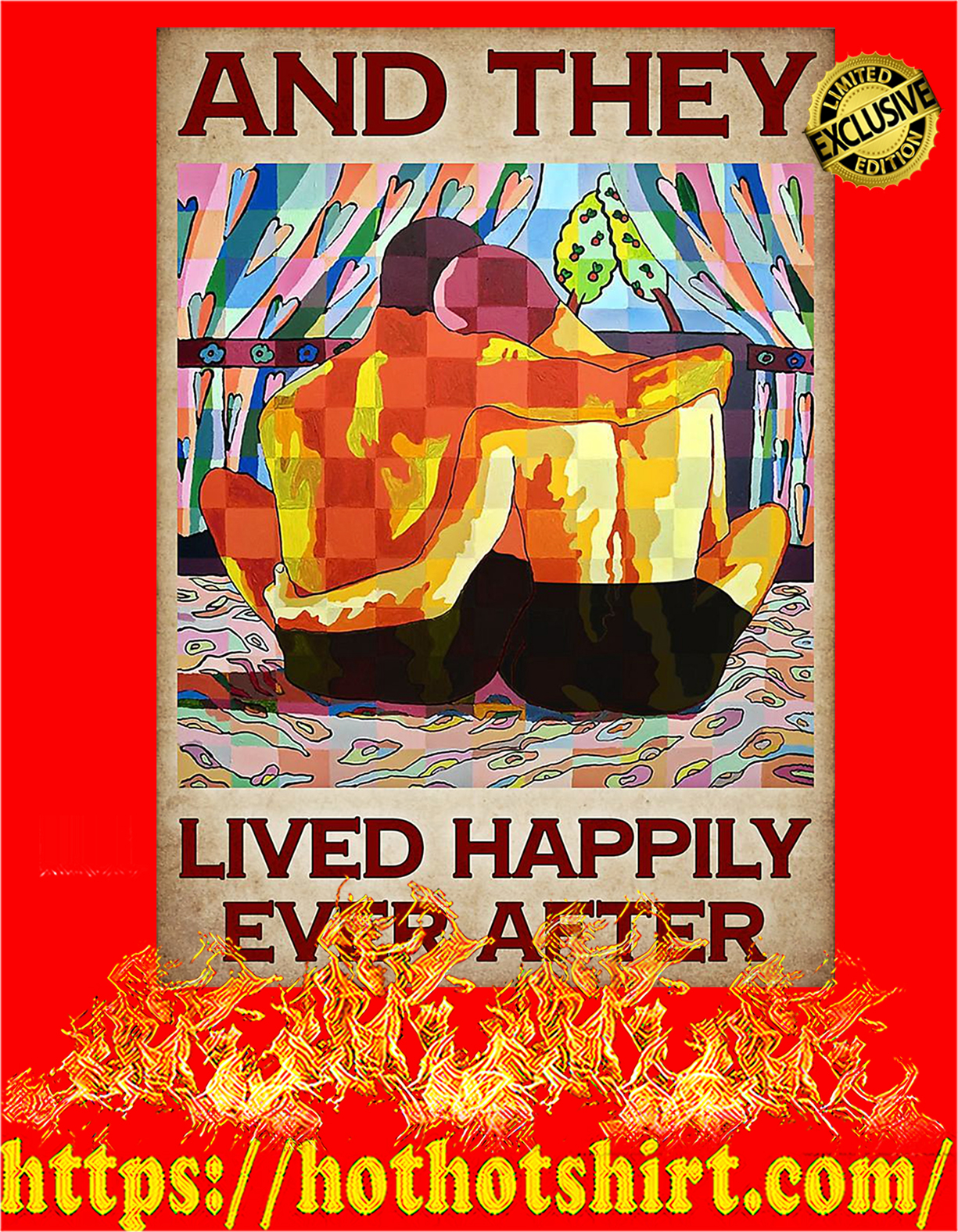 LGBT Pride And they lived happily ever after poster - A4